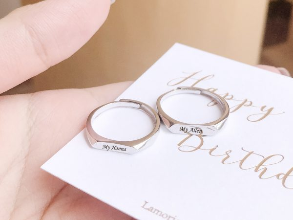 forever personalised couple ring