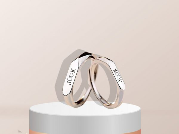 forever couple ring silver
