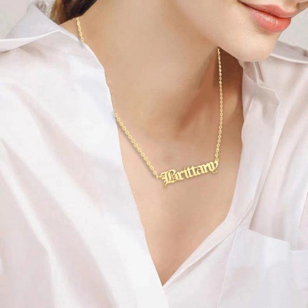 sandy name necklace sterling silver 18k gold plated
