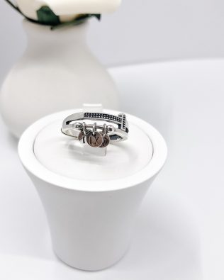 Old Time Silver Memorable Ring