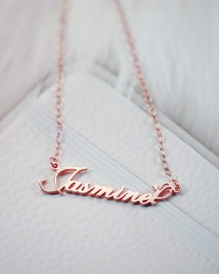 Jasmine Style Name Necklace Silver