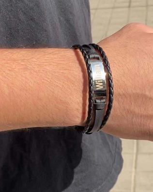 Personalized Braid men core bracelet
