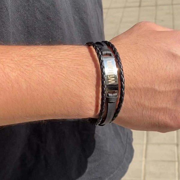 men engrave bracelet