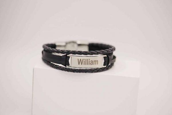 men bracelet engrave with name