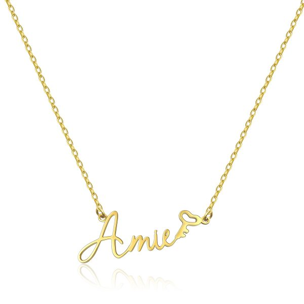 Amie Style Name Necklace 18k Gold Plated S925