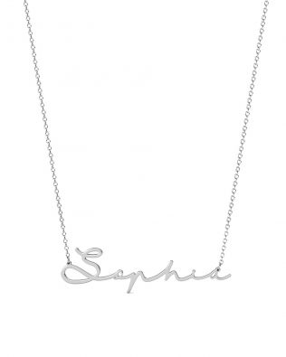 Sophie Style II Name Necklace Silver