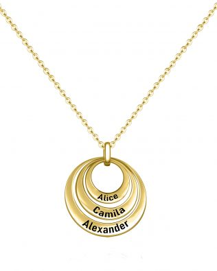 Family Ring Name Necklace Silver