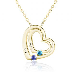love style name necklace with name on it 18k gold