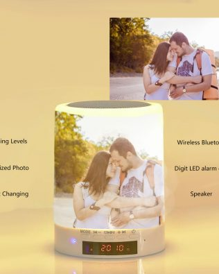 Custom Photo Night Lamp Photo Audio Bluetooth Seven Colors