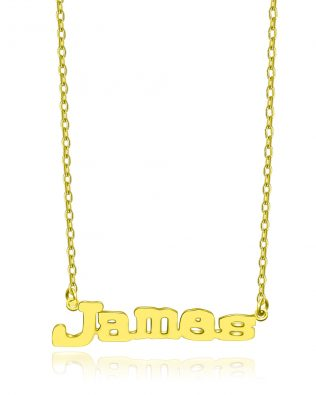 James Style Name Necklace Copper