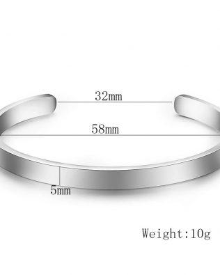 CC Engravable Bangles Titanium Steel