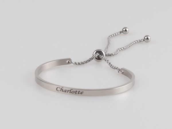 personalized engravable bangle titanium steel
