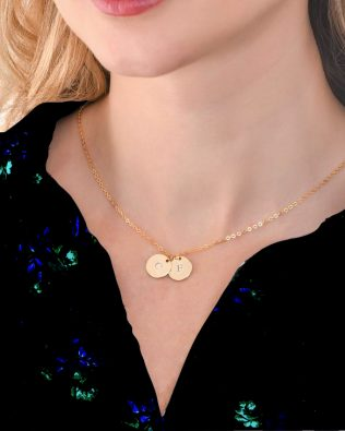 Engravable Coins Necklace S925
