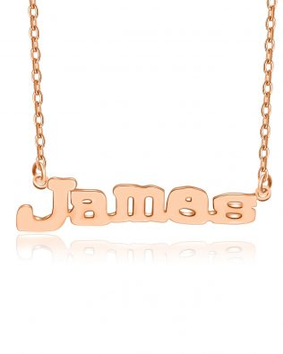James Style Name Necklace Silver Plated S925
