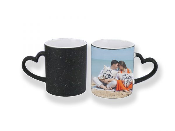 custom magic heating photo mug