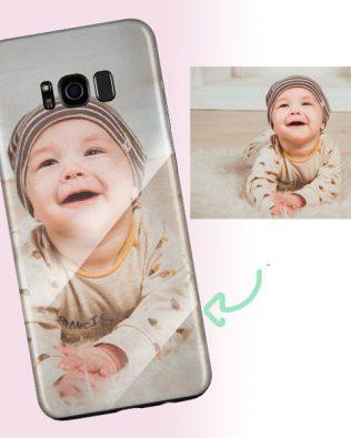 Samsung S8 Custom Photo Phone Case Glass