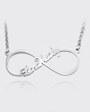 Infinity Single Name Necklace Silver