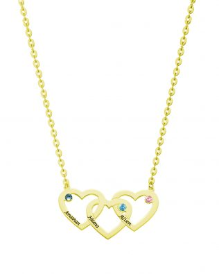 Three Heart Necklace Silver S925