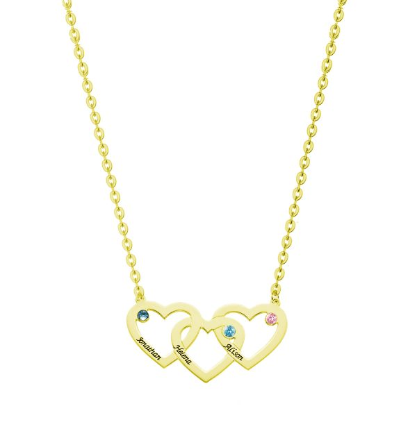 heart name necklace sterling silver 28k gold