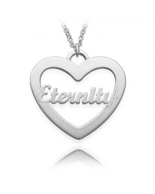 Single Heart Necklace Silver S925