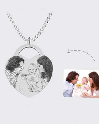 Photo Necklace Silver