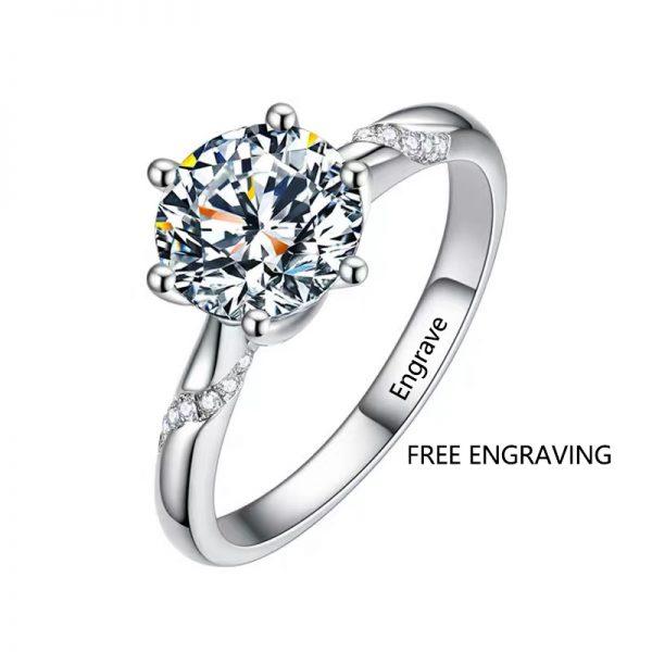 affordable 1 carat moissanite engagement ring