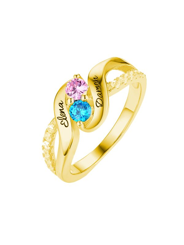 birthstone ring for mom engravable