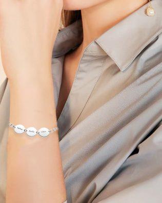 Name Bracelet Platinum Plated