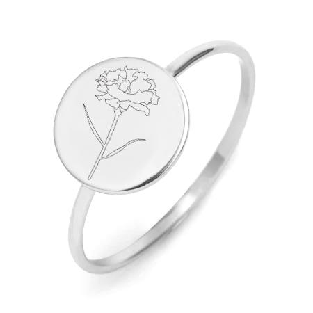 Ring Jan Flower Platinum