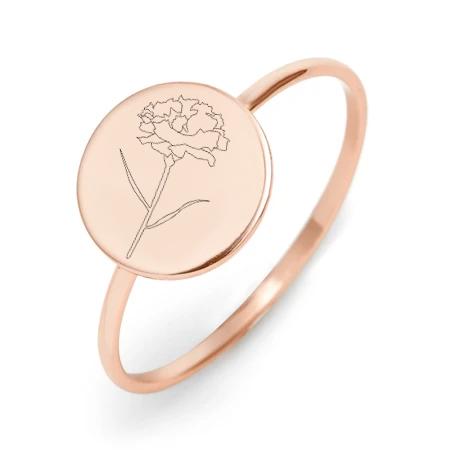 Ring Jan Flower Rose Gold