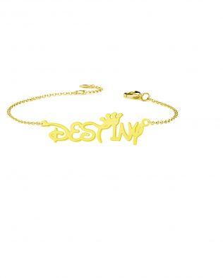 Personalized Destiny Style Name Bracelet Sterling Silver