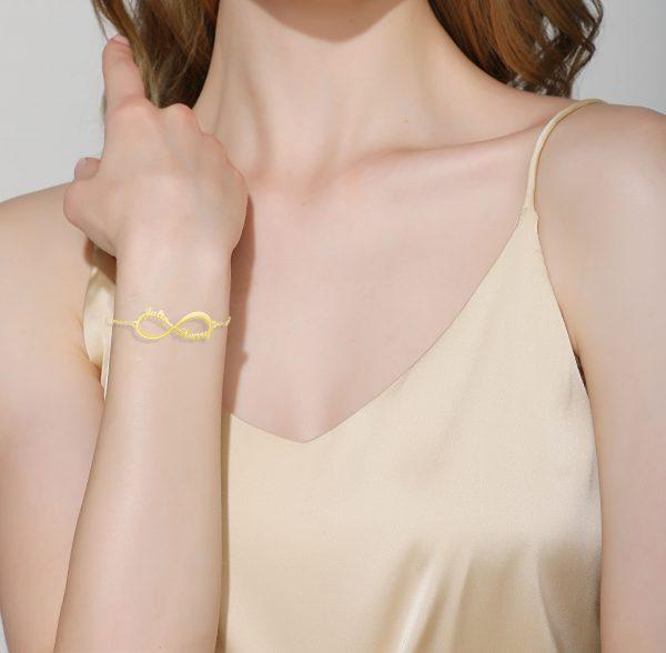 infinity 2 name bracelet model