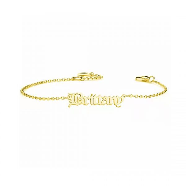 personalised-name-bracelet-925-sterling-silver-old english gold-1_3