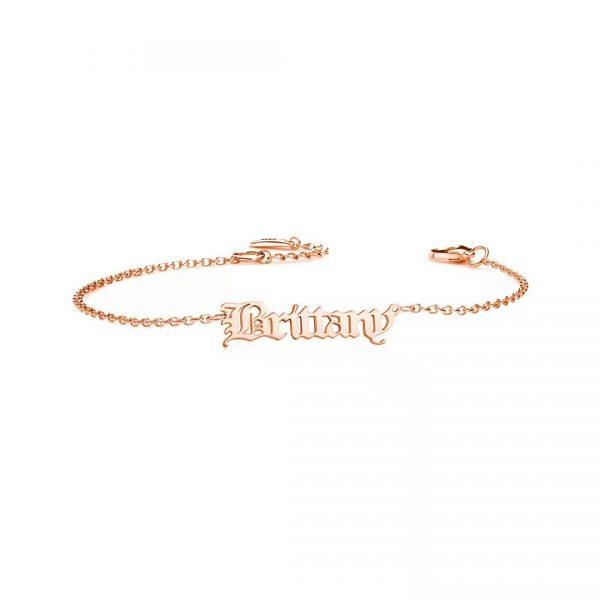 personalised-name-bracelet-925-sterling-silver-old english rose gold-1_3