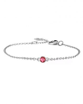 Personalized Bracelet with Birthstone Sterling Silver