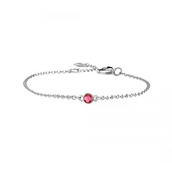 1 birthstone bracelet platinum