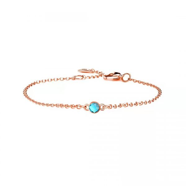 1 birthstone bracelet rose gold