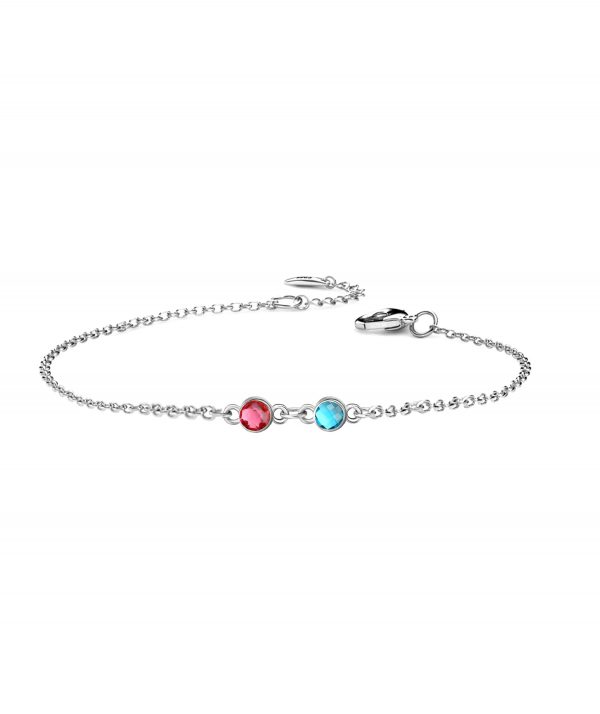 2 birthstone bracelet platinum