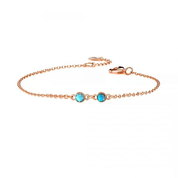 2 birthstone rose gold
