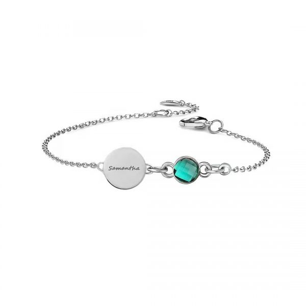 Disc with Birthstone platinum