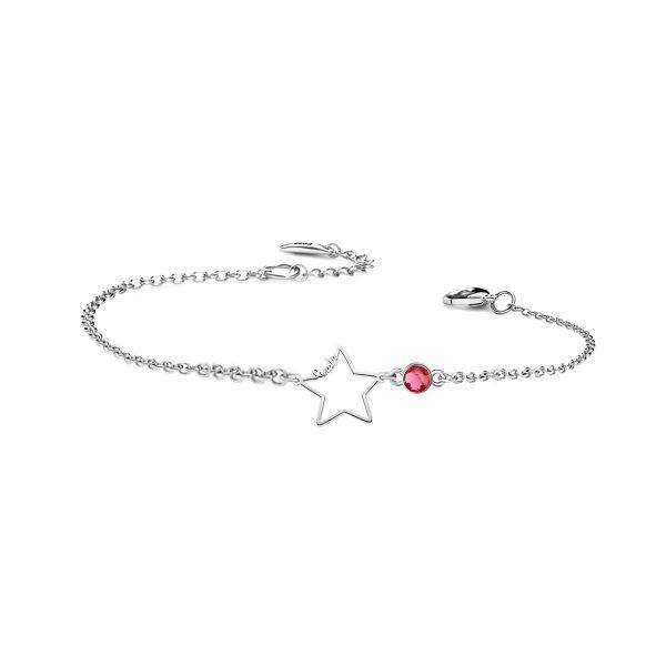 Star Bracelet with birthstone platinum