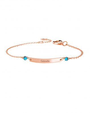 Personalized Bar Bracelet with Two Birthstones