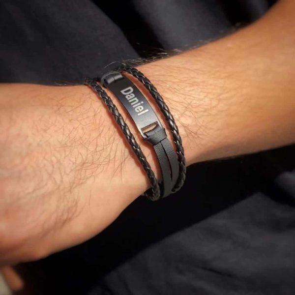 personalized men engrave bracelet