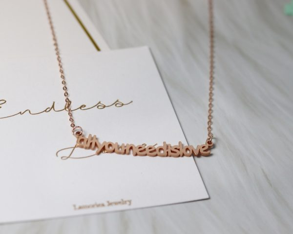 smile necklace rose gold