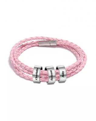 Personalized Friendship Braided Rope Name Bracelet