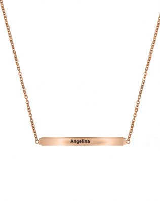 Personalized Secret Message Bar Name Necklace