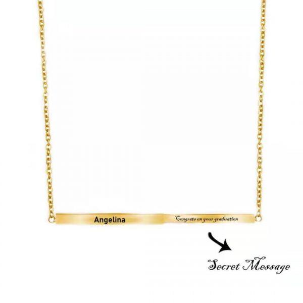 Personalized secret message bar Gold