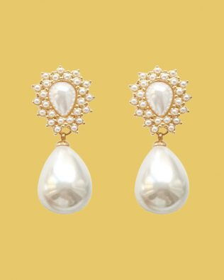 Julia Retro Pearl Earrings