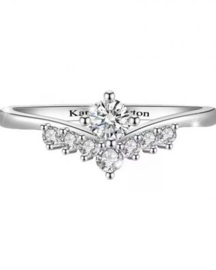 Crown  Diamond Promise Ring