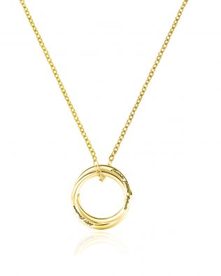 Personalized Two Russian Ring Necklace